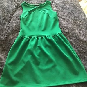 Green Cynthia Rowley fit & flare dress